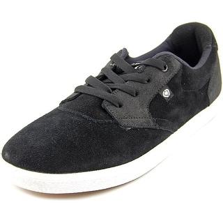 Circa Jc01 Men Round Toe Suede Black Sneakers