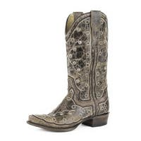 Stetson Western Boots Womens Pita Embroidery Brown