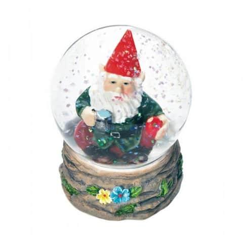 Coffee Break Gnome Mini Snow Globe