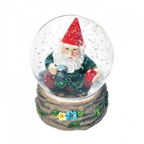 Set of 2 Coffee Break Gnome Mini Snow Globes