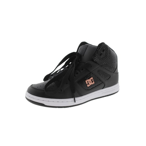 DC Womens Rebound High Skateboarding Shoes Hightop Perforated