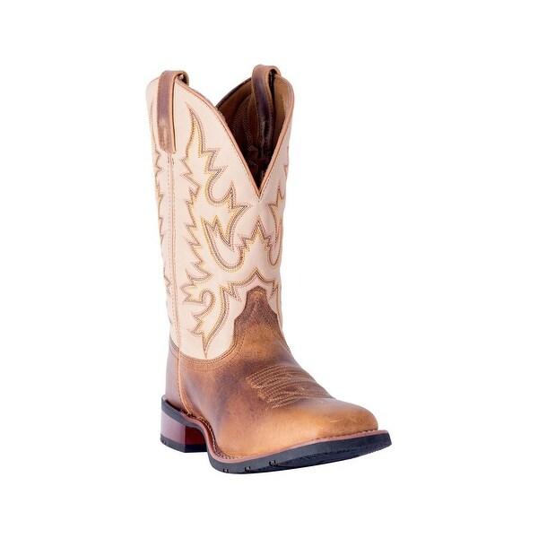 Laredo Western Boots Mens Heath Leather Stockman Tan Beige