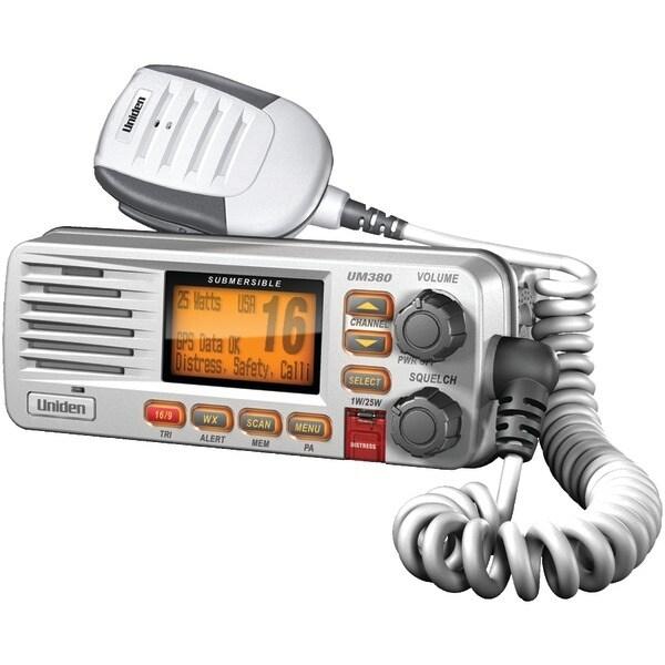 Uniden Um380 Fixed Mount Vhf/2-Way Marine Radio (White)