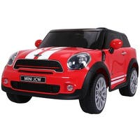 Costway Red Electric MINI PACEMAN Kids Ride On Car Licensed R/C Remote Control MP3