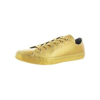 Converse Boys All Star Chuck Taylor Ox Fashion Sneakers Metallic Skateboarding - 6 medium (d)