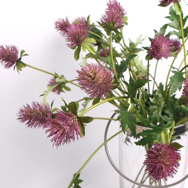 "FloralGoods Artificial Eryngium Flower Stem in Red 24"" Tall"