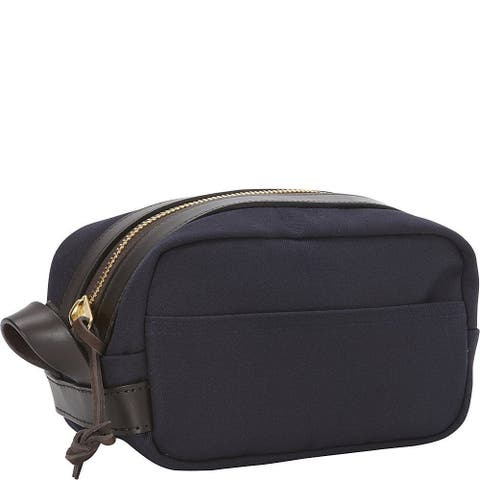 "Filson Rugged Twill Travel Kit (Navy) - 10"" x 6"" x 6"""