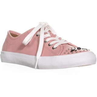 COACH Elle Lace Up Fashion Sneakers, Pink/Pink