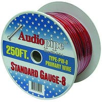Audiopipe 250' 8 Gauge Black Power Wire