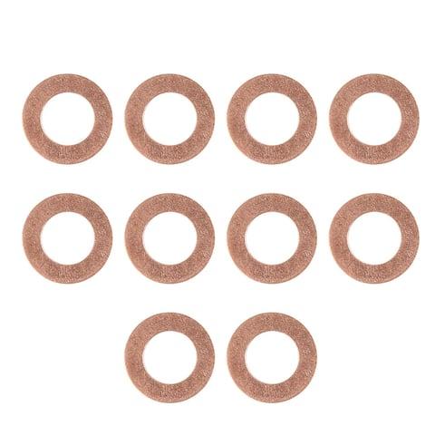 10pcs 10 x 18 x 1mm Copper Tone Engine Oil Drain Crush Flat Washer Gaskets