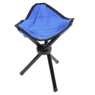 Fishing Home Metal Frame Nylon Seat Portable Folding Tripod Chair Stool Blue