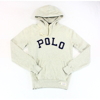 Polo Ralph Lauren NEW Gray Mens Size XS Polo-Logo Hooded Sweater