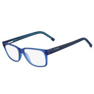 Lacoste Unisex Eyeglasses L2692-424 Satin Blue Square Full Rim Frames - Satin Blue