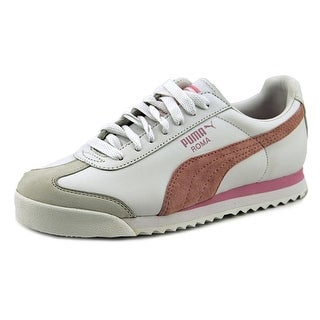 Puma Roma PF Jr. Youth Round Toe Leather White Sneakers