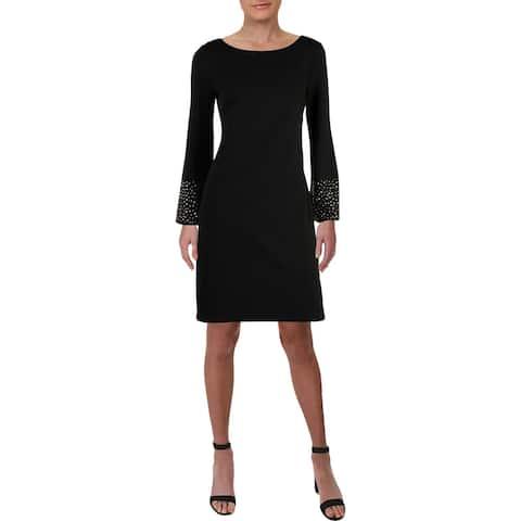Jessica Howard Womens Shift Dress Studded Cocktail