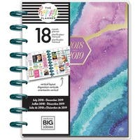 "Agate; Jul 2018-Dec 2019 - Happy Planner 18-Month Dated Medium Planner 7.75""X9.75"""
