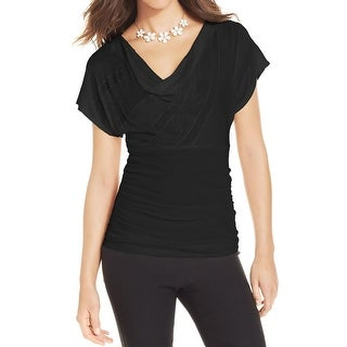 BCX Womens Juniors Pullover Top Lace Back Cap Sleeves