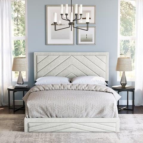 Sleep Sync Bartolo Linen Platform Bed