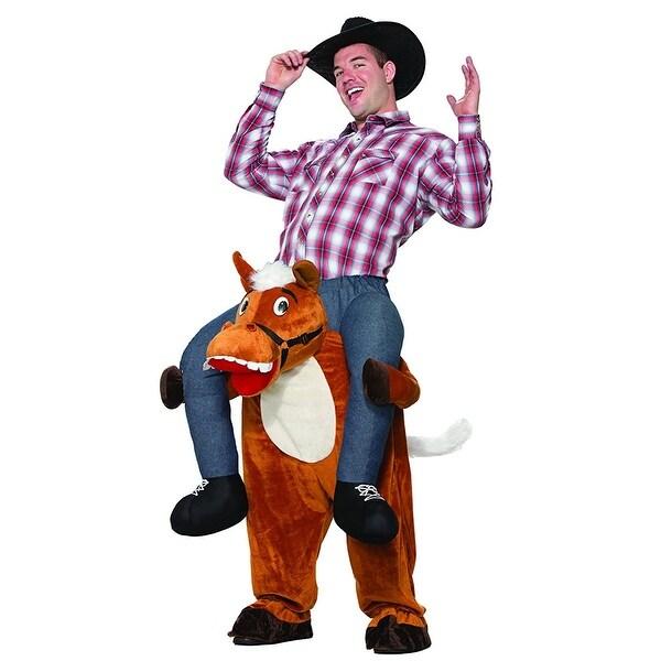 Piggyback Shoulder Riding Adult Costume: Horse - Brown