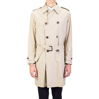 Prada Men's Lightweight Canvas Viscose Trench Coat Jacket Khaki