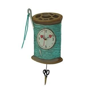 Allen Designs Needle and Thread Pendulum Wall Clock - 16 X 8.5 X 1.5 inches