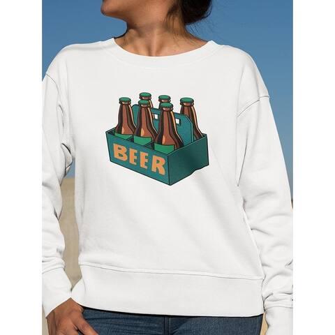 Pop Art Beer Pack Sweatshirt Women's -Image by Shutterstock