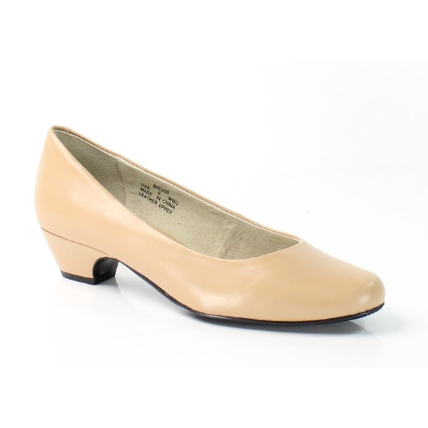 Propet NEW Beige Oyster Taxi Shoes 9W Pumps Classics Leather Heels