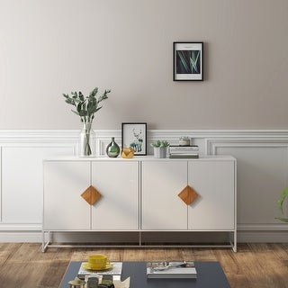Link to Modern Storage Sideboard with Solid Wood Special Shape Handle Similar Items in Bookshelves & Bookcases
