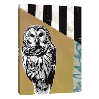 """PTM Images 9-105940  PTM Canvas Collection 10"""" x 8"""" - """"Barred Owl II"""" Giclee Owls Art Print on Canvas"""