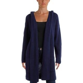 Lauren Ralph Lauren Womens Cardigan Sweater Hooded Pockets - m