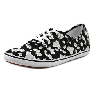 Vans Huntley Women Round Toe Canvas Black Skate Shoe