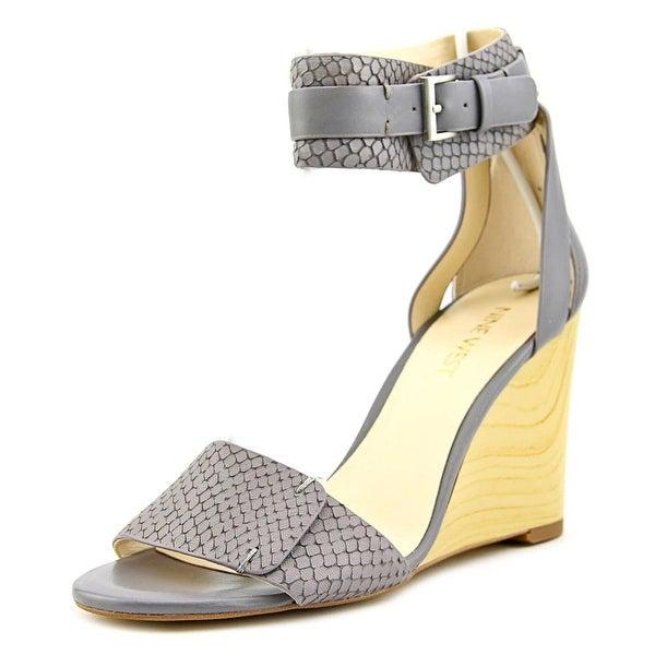 Nine West Finula Open Toe Leather Wedge Sandal