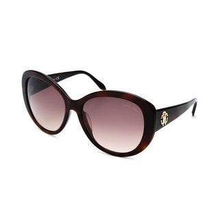 Roberto Cavalli Women's Temoe Square Sunglasses Dark Havana - Small