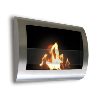 Anywhere Fireplaces 90298 Chelsea Wall Mount Fireplace - Stainless Steel