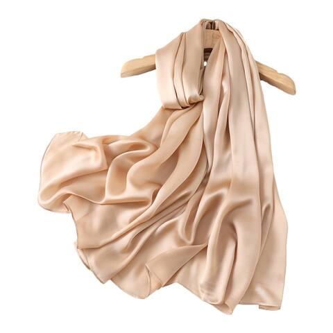 Four Seasons Available Silk Scarf Female Silk Feel Shawl Scarf Dual-Use
