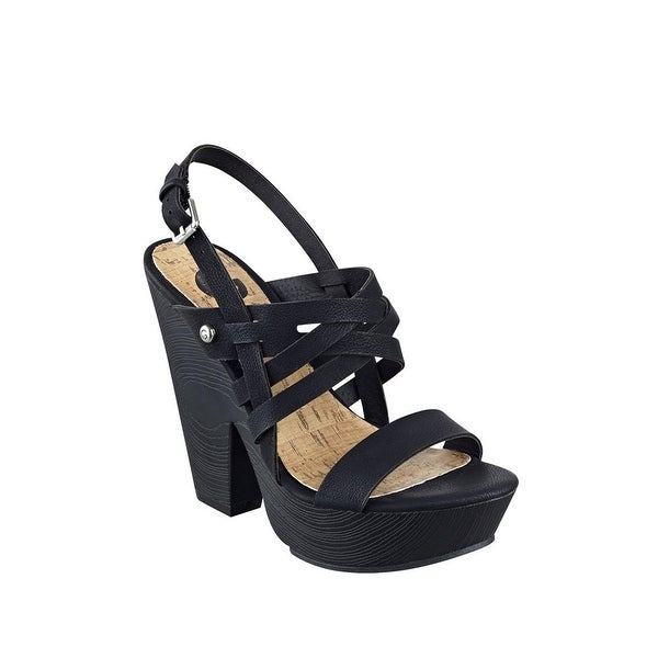 b2eb92453 Shop G by Guess Womens Saint Open Toe Casual Platform Sandals - Free ...