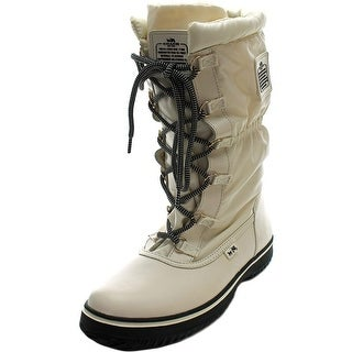 Coach Sage Women Round Toe Canvas Ivory Winter Boot