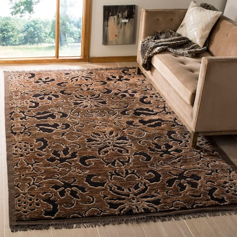 Safavieh Couture Hand-knotted Hayna Wool/ Silk Rug with Fringe