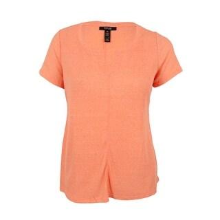 Style & Co. Women's Plus Size Split-Neck T-Shirt