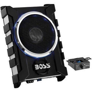 "Boss 10"" Low Profile Amplified Subwoofer with remote level control"