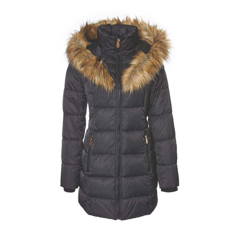 Belted 3/4 Puffer