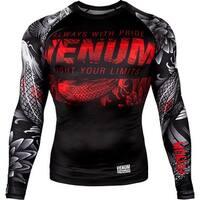 Venum Koi 2.0 Long Sleeve MMA Compression Rashguard - Black/White