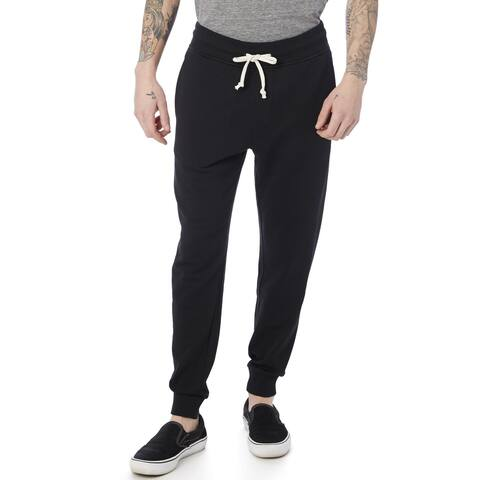 Alternative Men Pants Black Size Large L Jogging Drawstring Three Pocket