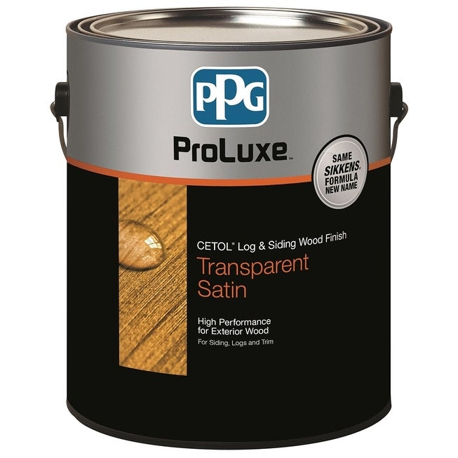 PPG SIK42077/01 ProLuxe Cetol Log & Siding Transparent Satin Wood Finish, Cedar, Gal