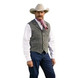Schaefer Western Vest Mens McClure Merino Melton Wool Weave 707
