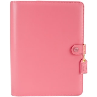 "Color Crush A5 Faux Leather Planner Kit 7.5""X10""-Light Pink"