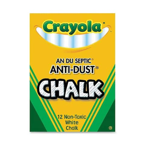 Chalk Anti-Dust White 12 Ct