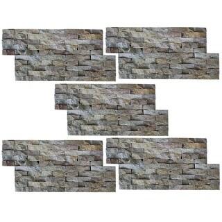 vidaXL Wall Cladding Panels 5 pcs Marble Gold