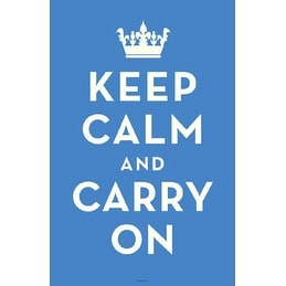 ''Keep Calm and Carry On (Light Blue)'' by Anon Motivational Art Print (17 x 11 in.)