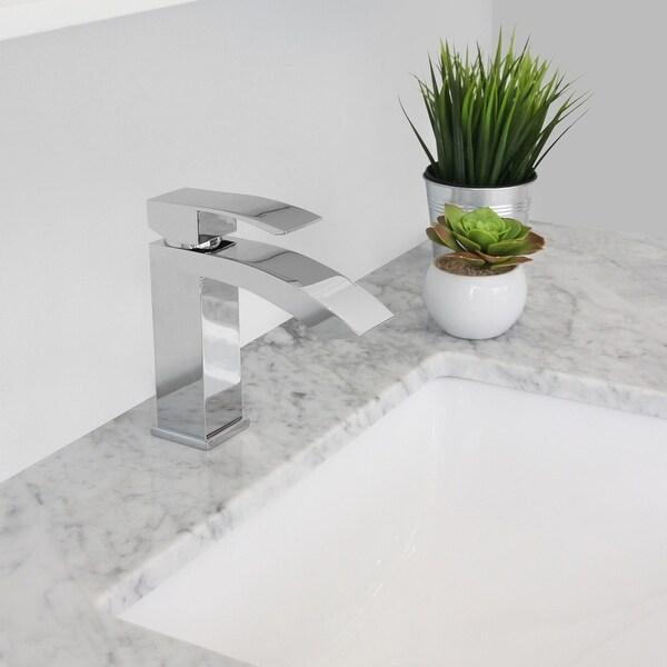 Single Hole Waterfall-Flow Bathroom Faucet. Opens flyout.